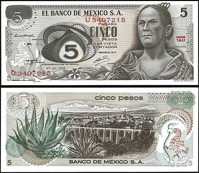 Mexico 5 PESOS 27.6.1972 P 62c UNC OFFER !