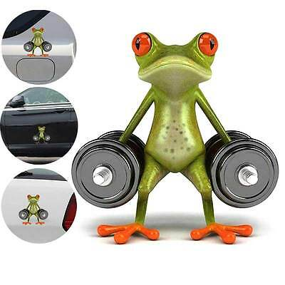 New 3D Dumbbell Frog Car Stickers Vinyl Decor Waterproof Truck Window Decal GYTH