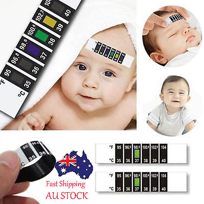 5 x Baby Forehead Strip Head Thermometer Fever High Quality Temperature Test #1