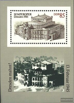 DDR block80 (complete.issue) unmounted mint / never hinged 1985 Semperoper