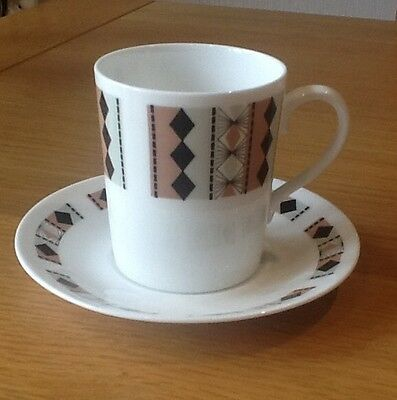 Vintage Royal Adderley - 'MASQUERADE' Coffee Cup And Saucer  - BARGAIN