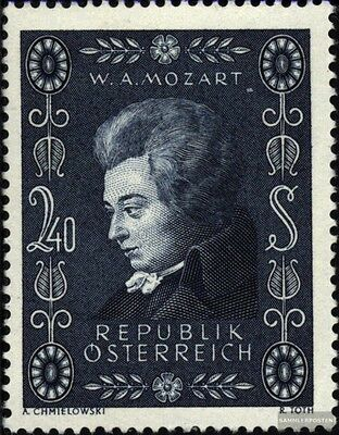 Austria 1024 (complete issue) used 1956 Wolfgang Amadeus Mozart