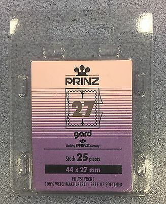 ⭐️27mm PRINZ GARD Stamp Mount  - Black Mount - (44mmx27mm) + FREE UK DELIVERY!⭐️