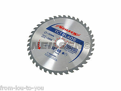 "Pack of 2  -  10 "" - 254 mm TCT Saw Cutting Discs / Blades 40 and 60 Teeth"