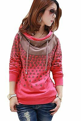 Mordenmiss Women's Hoodie Spring Long Sleeve T-Shirt Pullover With Pockets 2XL