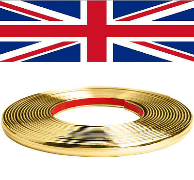 6mm x 3m GOLD ADHESIVE STRIP TRIM MOULDING CAR INTERIOR EXTERIOR STYLING TUNING