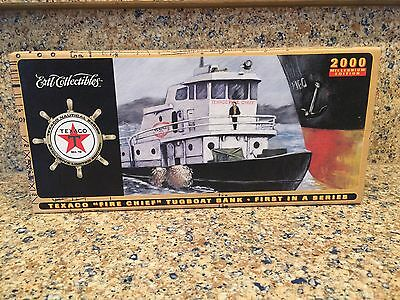 Texaco Fire Chief Tug Boat Bank First In A Series By Ertl