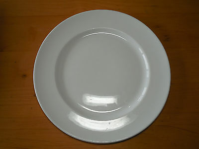 "Dudson England Dinner Plate 11 1/2"" White Smooth Wide Rim 1 ea    4 available"