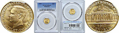 1917 McKinley $1 Gold Commemorative PCGS MS-65+