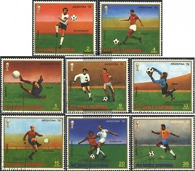 Equatorial-Guinea 1153-1160 (complete issue) used 1977 Football