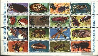 Equatorial-Guinea 1370-1385 Sheetlet (complete issue) used 1978