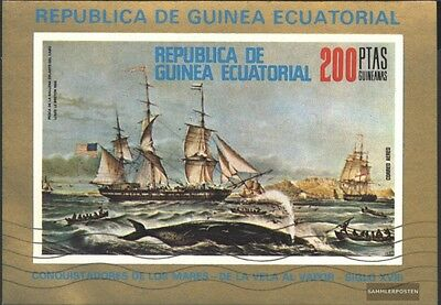 Equatorial-Guinea block249 (complete issue) with Wellenstempel used