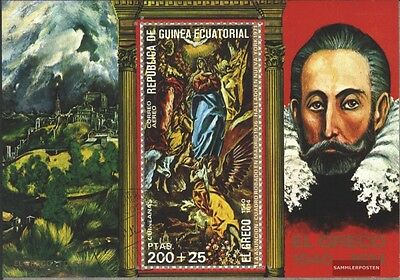 Equatorial-Guinea block214 (complete issue) used 1976 Paintings