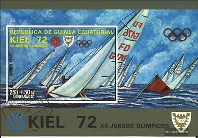 Equatorial-Guinea block16 (complete issue) used 1972 olympic. S