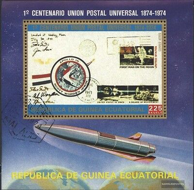 Equatorial-Guinea block109 (complete issue) used 1974 100 years