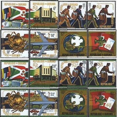 Burundi 1069A-1084A (complete issue) used 1974 100 years UPU