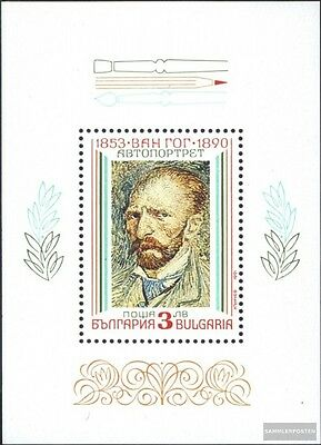 Bulgaria block214 (complete issue) unmounted mint / never hinged 1991 Paintings