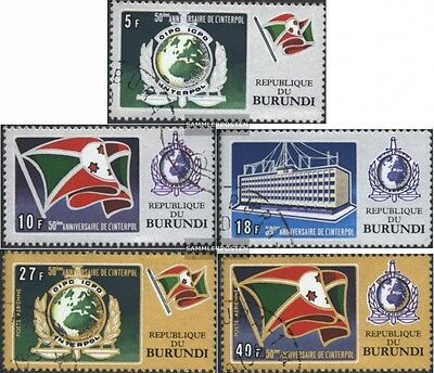 Burundi 926A-930A (complete issue) used 1973 50 years INTERPOL