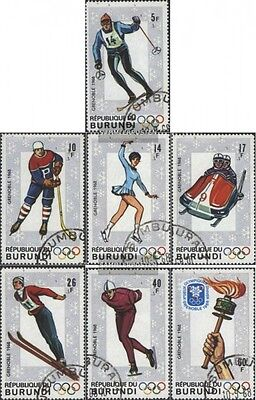 Burundi 386A-392A (complete issue) used 1968 olympic. Games ´68