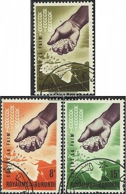 Burundi 48A-50A (complete issue) used 1963 Fight against the Hu