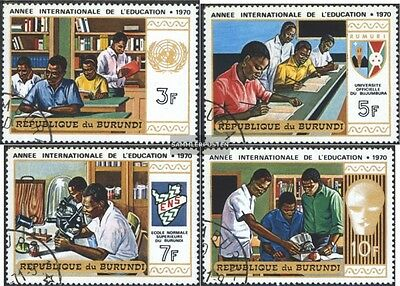Burundi 657A-660A (complete issue) used 1970 Education + Educat