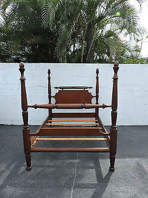 Late 1800's Solid Wood Full Size Poster Bed 8005