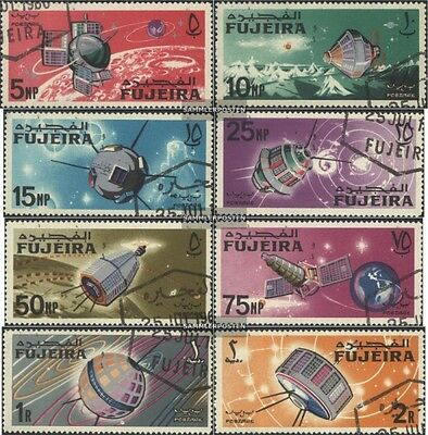 Fujeira 70A-77A (complete issue) used 1966 Space