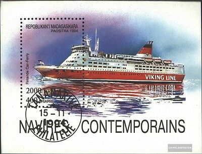 Madagascar block264 (complete issue) used 1994 Vessels