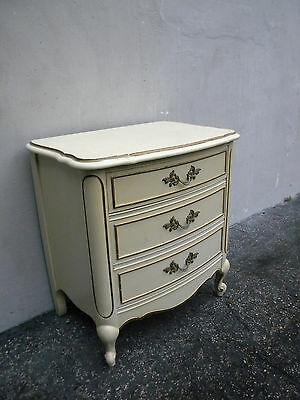 French Painted Nightstand  End Table Side Table by Dixie 6073