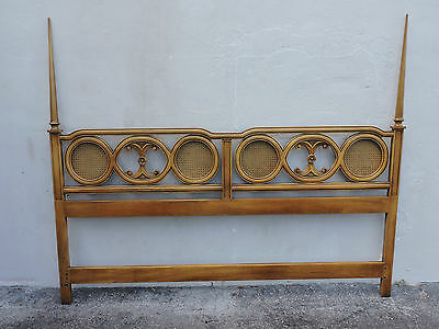 Mid Century MCM Caned King-Size Poster Headboard 6187