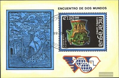 Nicaragua block181 (complete issue) used 1988 Art objects