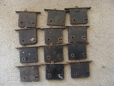 Lot of 12 ~ Antique Mortise Side Door Locks w/o keys home architectural decor