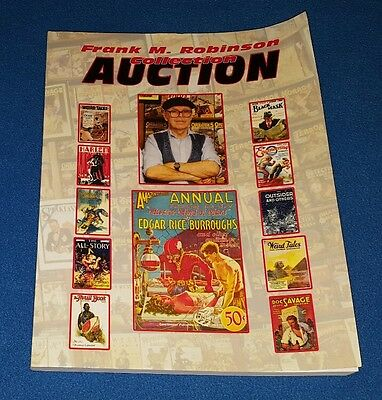 Frank M. Robinson Collection Auction Paperback Book 2012