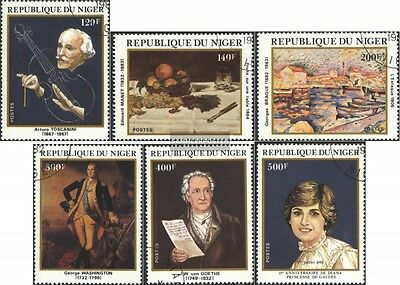 Niger 784-789 (complete issue) used 1982 Anniversaries