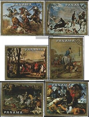 Panama 1110-1115 (complete.issue) used 1968 hunting scenes-Pain