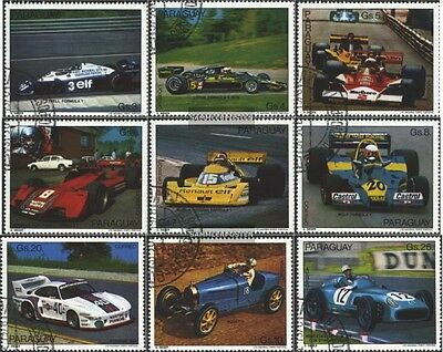 Paraguay 3060-3068 (complete issue) used 1978 Racecar