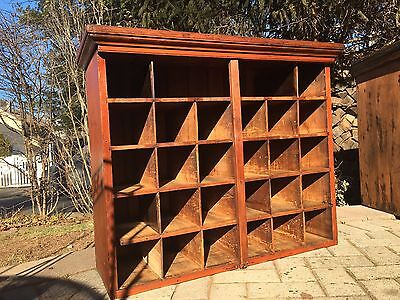 Antique General Store Mail Cubby Storage Display Cabinet Apothecary  1920's