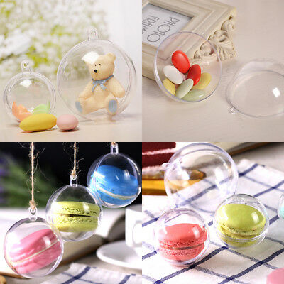Clear Acrylic Transparent Sphere Bauble Christmas Wedding Festival Decor Ball