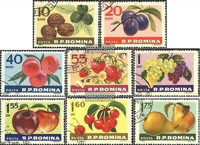 Romania 2176-2183 (complete issue) used 1963 Fruits