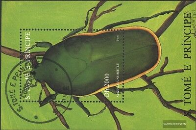 Sao Tome e Principe block359 (complete issue) used 1996 Insects