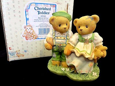 """Cherished Teddies Harvey & Gigi """"Finding The Path To Your Heart"""" 302481 MINT"""