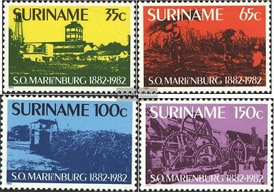 Suriname 993-996 (complete issue) unmounted mint / never hinged 1982 Marienburg