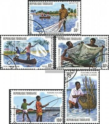 Togo 1040A-1044A (complete issue) used 1974 Lagoons-Fisheries