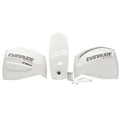 Evinrude Johnson BRP Boat Outboard Cowl Cover 5401001 | Bright White (Kit)
