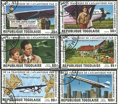 Togo 1227A-1232A (complete issue) used 1977 50. Anniversary Tra