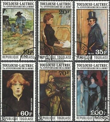Togo 1180A-1185A (complete issue) used 1976 Paintings h. de Tou