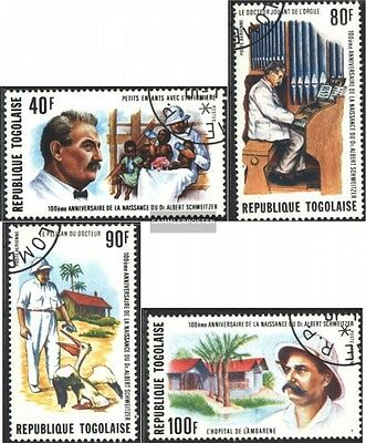 Togo 1118A-1121A (complete. issue) used 1975 100. Birthday Albe