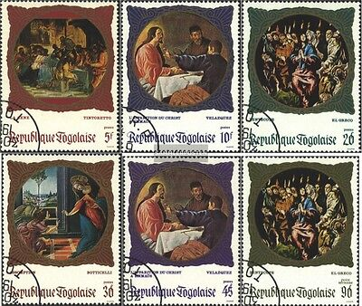 Togo 713A-718A (complete issue) used 1969 Famous Paintings