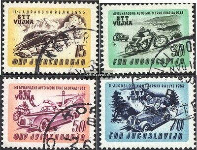 Trieste - Zone B 98-101 (complete issue) used 1953 Car-/Motorcy