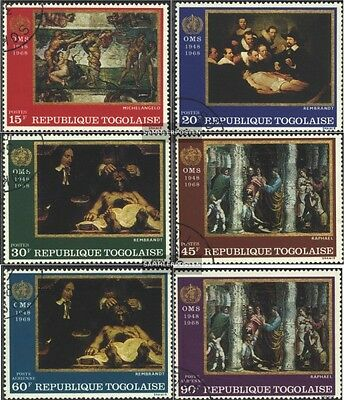 Togo 655A-660A (complete issue) used 1968 20 J. world health or